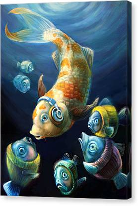 Easy Listening Streaker Fish Among The Sweater Fish Canvas Print by Vanessa Bates
