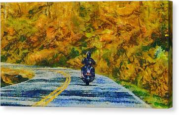 Easy Rider Canvas Print by Dan Sproul