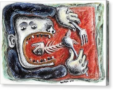 Eat Me - 2011 Canvas Print by Nalidsa Sukprasert