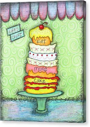 Eat More Cake Canvas Print by Joann Loftus