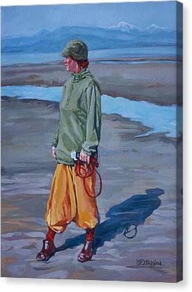 Ebb Tide Canvas Print by Derrick Higgins