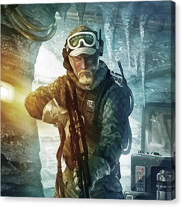 Echo Base Trooper Canvas Print by Ryan Barger