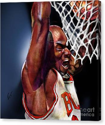 Eclipsing The Moon - Jordan  Canvas Print by Reggie Duffie