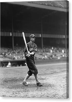Eddie Collins Sr. Left Handed Swing Canvas Print by Retro Images Archive