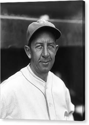 Eddie Collins Sr. Poses For Photo Canvas Print by Retro Images Archive
