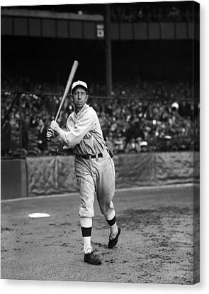 Eddie Collins Sr. Warm Up Swing Canvas Print by Retro Images Archive
