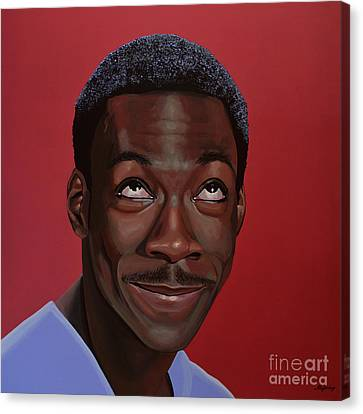 Eddie Murphy Painting Canvas Print by Paul Meijering