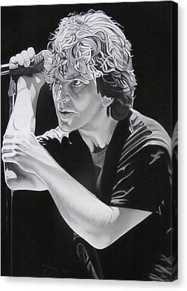 Eddie Vedder Black And White Canvas Print by Joshua Morton