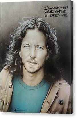 ' Eddie Vedder ' Canvas Print by Christian Chapman Art