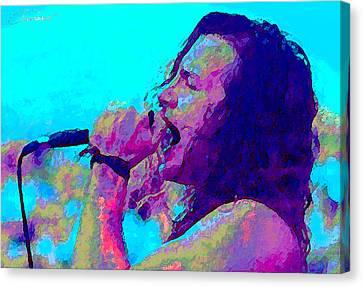 Eddie Vedder Canvas Print by John Travisano