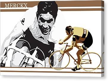 Eddy Merckx Canvas Print by Sassan Filsoof