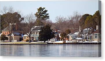 Edenton Waterfront Canvas Print by Carolyn Ricks