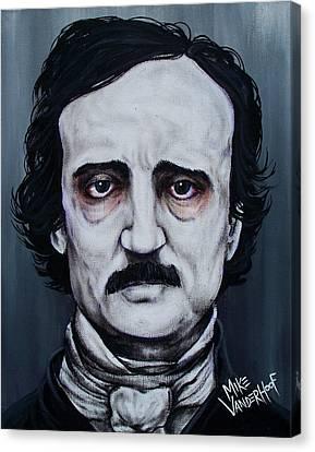 Edgar Allan Poe Canvas Print by Michael Vanderhoof
