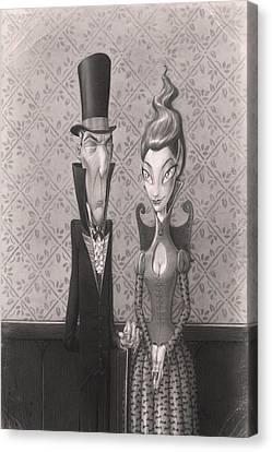 Edgar And Larissa Canvas Print by Richard Moore