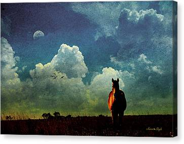 Edge Of Night Canvas Print by Karen Slagle