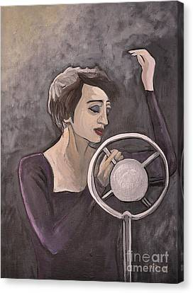 Edith Piaf Canvas Print by Reb Frost