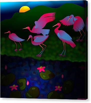 Egrets Canvas Print by Latha Gokuldas Panicker