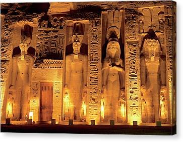 Egypt, Abu Simbel, The Temple Of Hathor Canvas Print by Miva Stock