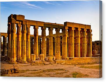Egyptian Temple Ruins In Luxor Canvas Print by Mark E Tisdale