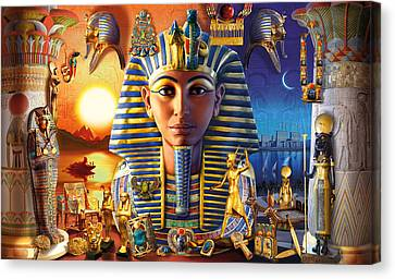 Egyptian Treasures II Canvas Print by Andrew Farley