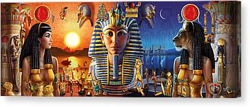 Egyptian Triptych 2 Canvas Print by Andrew Farley