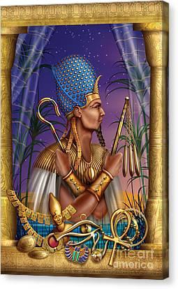 Egyptian Triptych Variant I Canvas Print by Ciro Marchetti