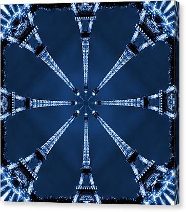 Eiffel Art 21 Canvas Print by Mike McGlothlen