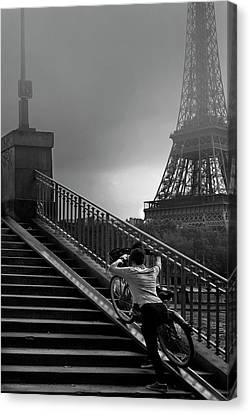 Eiffel Canvas Print by Sol Marrades