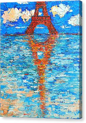 Eiffel Tower Abstract Impression Canvas Print by Ana Maria Edulescu