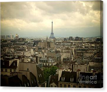 Eiffel Tower And Roofs Of Paris. France.europe. Canvas Print by Bernard Jaubert