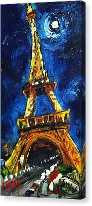 Eiffel Tower Canvas Print by Carole Foret