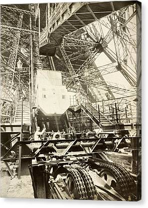 Eiffel Tower Lift Machinery, 1889 Canvas Print by Science Photo Library