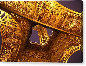 Eiffel Tower - Paris France - 011312 Canvas Print by DC Photographer