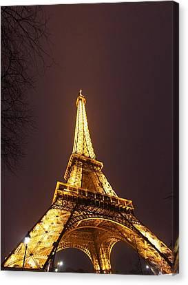 Eiffel Tower - Paris France - 011313 Canvas Print by DC Photographer