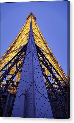 Eiffel Tower - Paris France - 01139 Canvas Print by DC Photographer