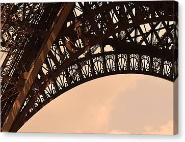Eiffel Tower Paris France Arc Canvas Print by Patricia Awapara