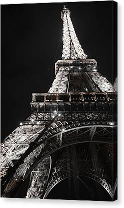 Eiffel Tower Paris France Night Lights Canvas Print by Patricia Awapara