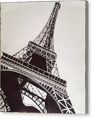 Eiffel Tower Canvas Print by Ryan Jirjis