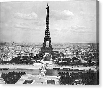 Eiffel Tower Canvas Print by Underwood Archives