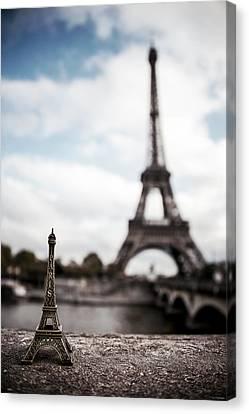 Eiffel Trinket Canvas Print by Ryan Wyckoff