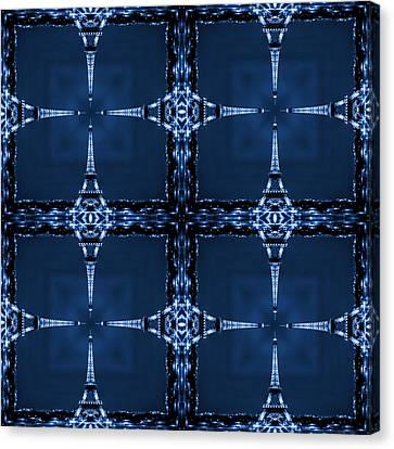 Eiffelart 28 Canvas Print by Mike McGlothlen