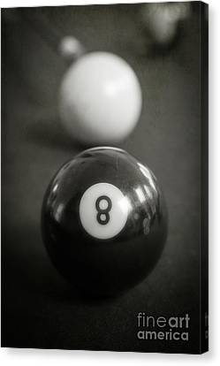 Eight Ball Canvas Print by Edward Fielding