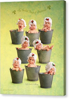 Eight Maids-a-milking Canvas Print by Anne Geddes