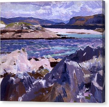Eilean Annraidh From The North End Canvas Print by Francis Campbell Boileau Cadell