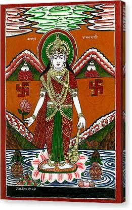 Ek Darshi Mata Vishnu Avatar Canvas Print by Ashok Kumar