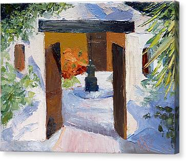 El Cortijo Galleries Canvas Print by Susan Woodward