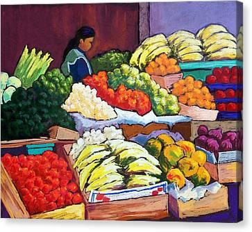 El Mercado Canvas Print by Candy Mayer