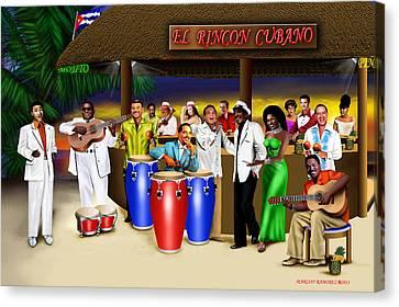 El Rincon Cubano Canvas Print by Marlon Ramirez