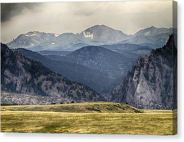 Eldorado Canyon And Continental Divide Above Canvas Print by James BO  Insogna