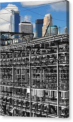 Electric City Canvas Print by Jim Hughes